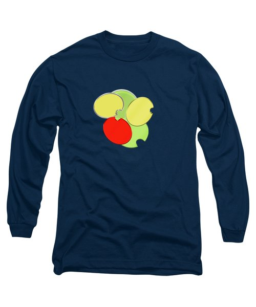 Circles Of Red, Yellow And Green Long Sleeve T-Shirt