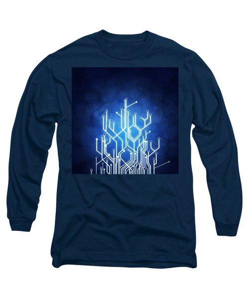 Circuit Board Technology Long Sleeve T-Shirt