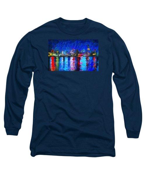 City Limits Tokyo Long Sleeve T-Shirt by Sir Josef - Social Critic - ART