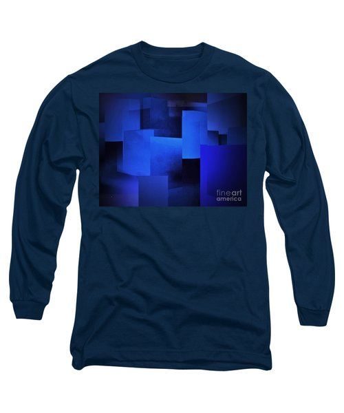 Night In The City Of Blues Long Sleeve T-Shirt by John Krakora
