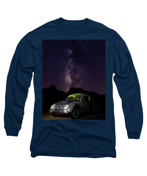 Classic Vw Bug Under The Milky Way Long Sleeve T-Shirt