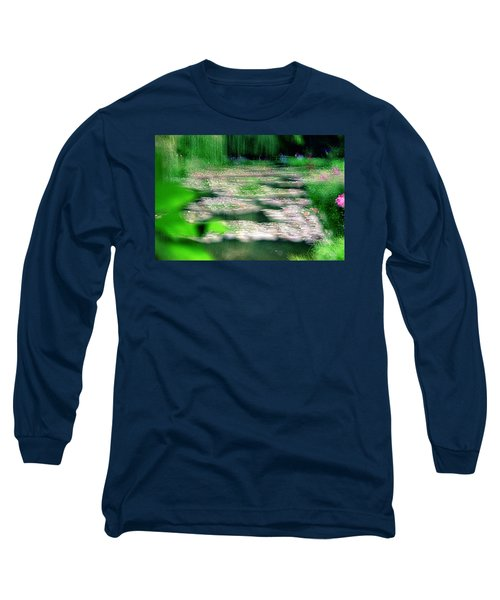Long Sleeve T-Shirt featuring the photograph Claude Monets Water Garden Giverny 1 by Dubi Roman