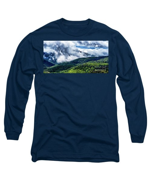 Long Sleeve T-Shirt featuring the photograph Clearing Storm Highland Scenic Highway by Thomas R Fletcher