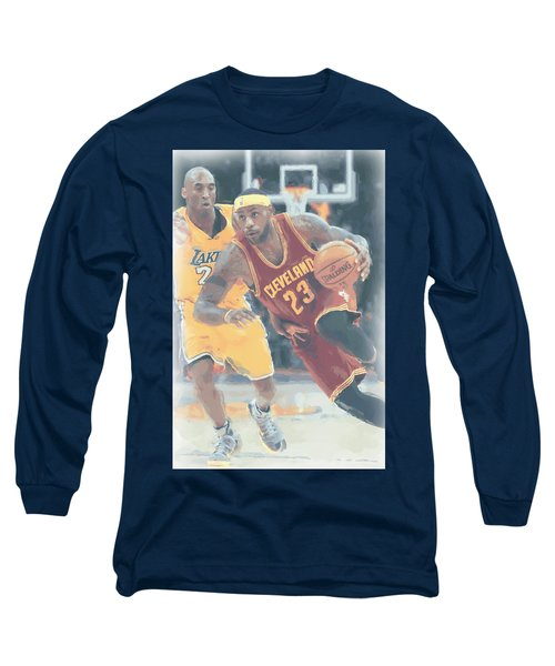 Cleveland Cavaliers Lebron James 3 Long Sleeve T-Shirt by Joe Hamilton