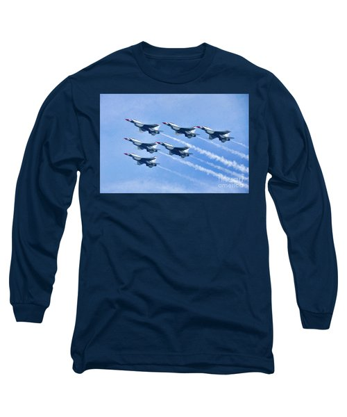 Cleveland National Air Show - Air Force Thunderbirds - 1 Long Sleeve T-Shirt