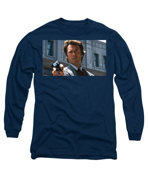 Clint Eastwood With 44 Magnum Dirty Harry 1971 Long Sleeve T-Shirt