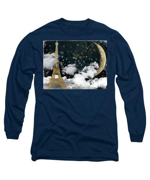 Cloud Cities Paris Long Sleeve T-Shirt by Mindy Sommers