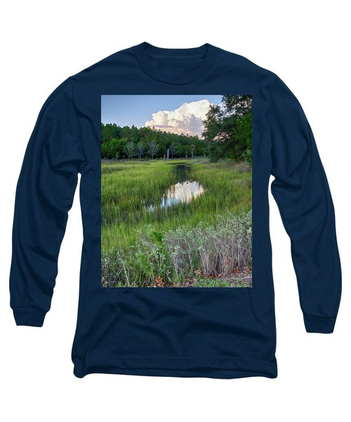 Cloud Over Marsh Long Sleeve T-Shirt by Patricia Schaefer