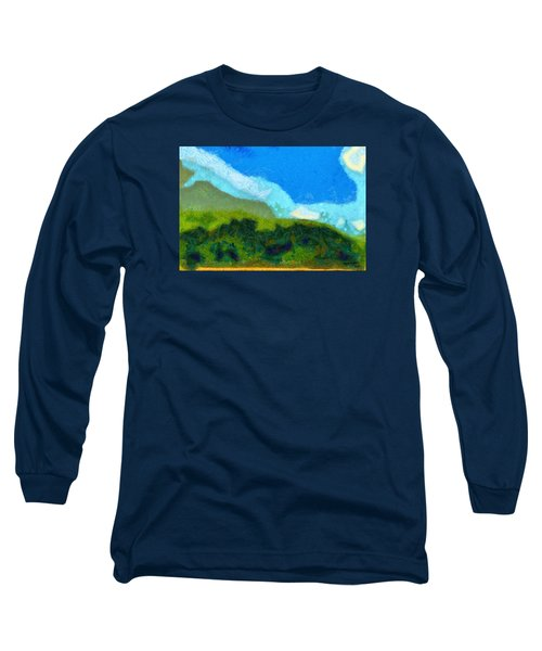 Long Sleeve T-Shirt featuring the painting Cloud River by Spyder Webb