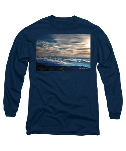Long Sleeve T-Shirt featuring the photograph Clouds Over The Smoky's by Douglas Stucky