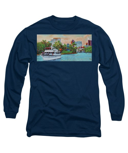 Cocktails On The New River Long Sleeve T-Shirt