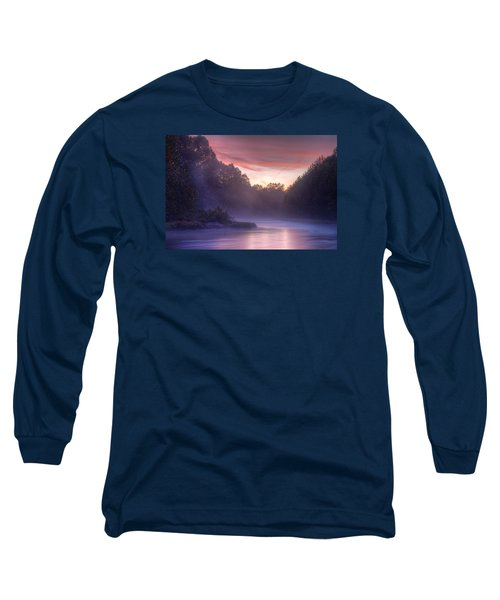 Cold Blue Mist Long Sleeve T-Shirt by Robert Charity