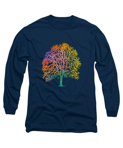 Color Abstract Painting Long Sleeve T-Shirt