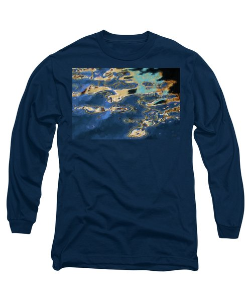 Color Abstraction Xxxvii - Painterly Long Sleeve T-Shirt by David Gordon