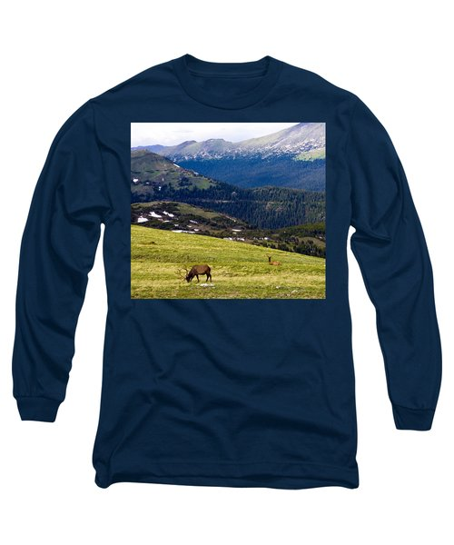 Colorado Elk Long Sleeve T-Shirt by Marilyn Hunt