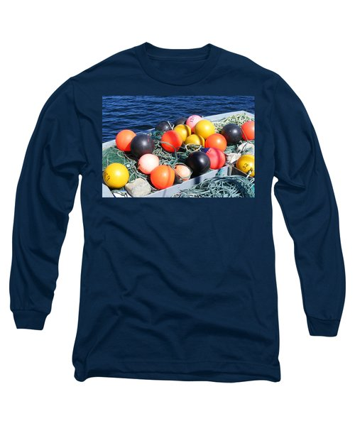 Colorful Buoys Long Sleeve T-Shirt by Barbara Griffin