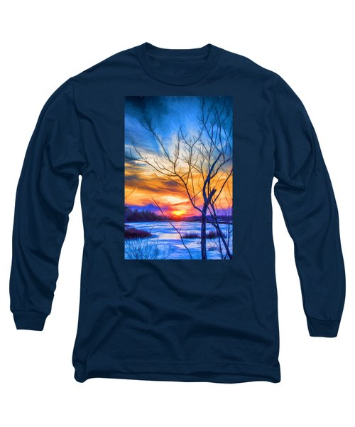 Colorful Cold Sunset Long Sleeve T-Shirt