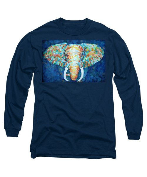 Colorful Elephant Long Sleeve T-Shirt