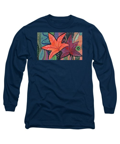 Colorful Fall Long Sleeve T-Shirt by Helena Tiainen
