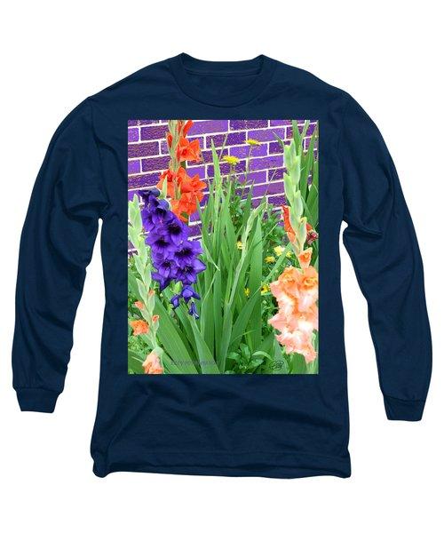 Colorful Gladiolas Long Sleeve T-Shirt