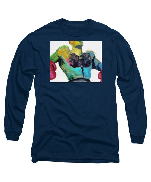 Colorful Hairy Boxer Long Sleeve T-Shirt by Shungaboy X