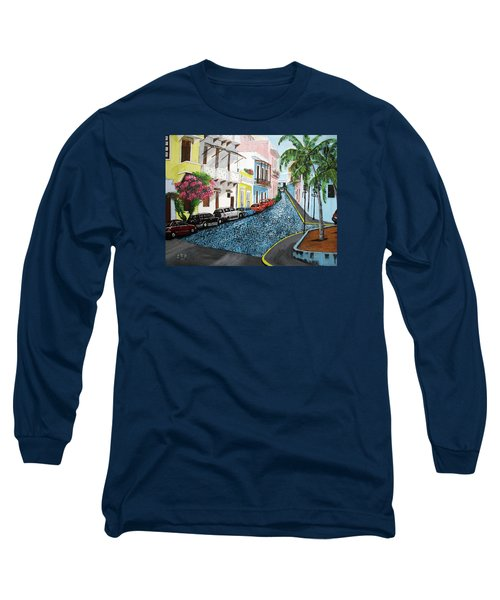 Colorful Old San Juan Long Sleeve T-Shirt by Luis F Rodriguez