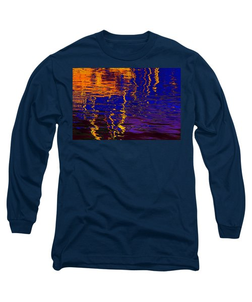 Colorful Ripple Effect Long Sleeve T-Shirt by Danuta Bennett