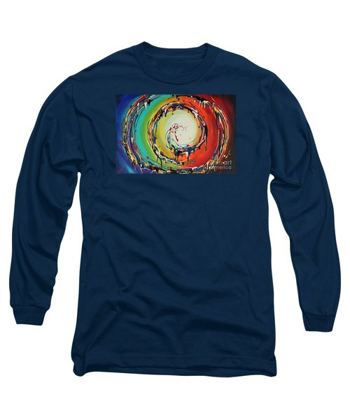 Colorful Swirls Long Sleeve T-Shirt