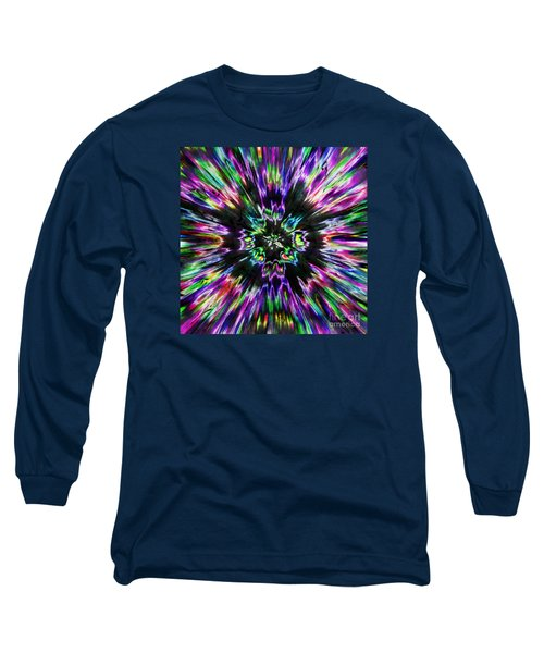 Colorful Tie Dye Abstract Long Sleeve T-Shirt