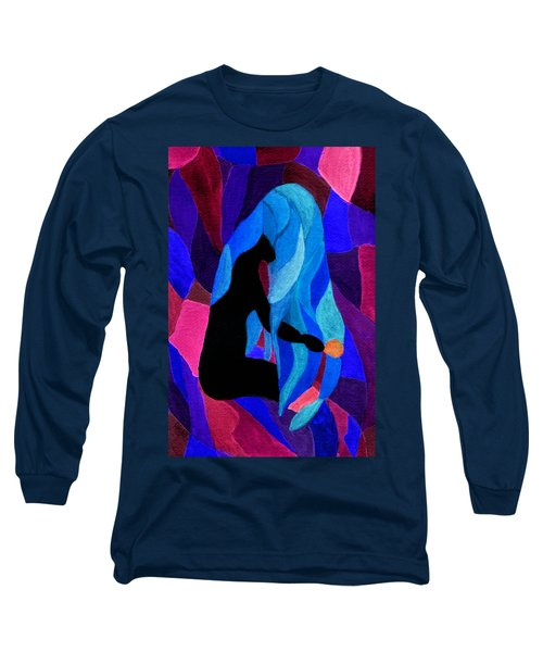 Combing The Waves Dark Long Sleeve T-Shirt