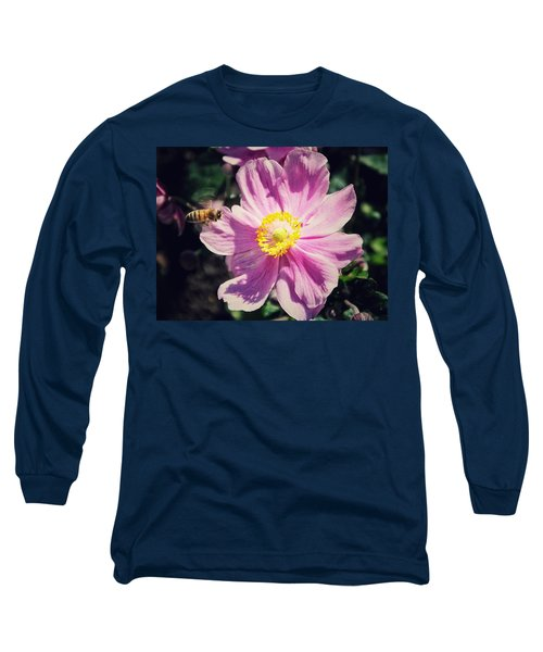 Long Sleeve T-Shirt featuring the photograph Coming In For A Landing by Karen Stahlros