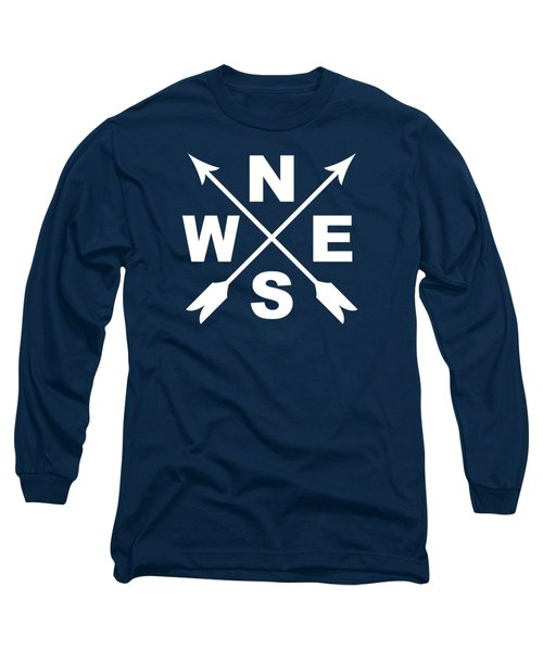 Compass And Arrows Long Sleeve T-Shirt