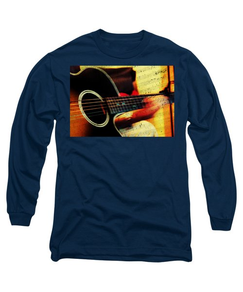 Composing Hallelujah. Music From The Heart  Long Sleeve T-Shirt by Jenny Rainbow