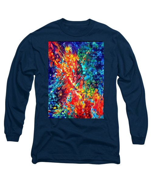 Composition #3. Abstract Sunsets.  Long Sleeve T-Shirt by Helen Kagan