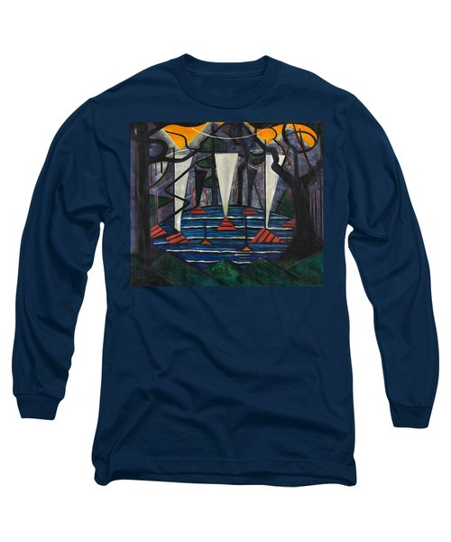 Long Sleeve T-Shirt featuring the painting Composition No. 23 by Jacoba van Heemskerck