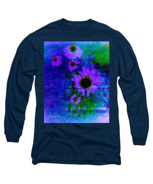 Coneflowers Abstract Long Sleeve T-Shirt