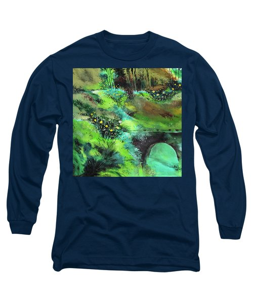 Long Sleeve T-Shirt featuring the painting Connect by Anil Nene