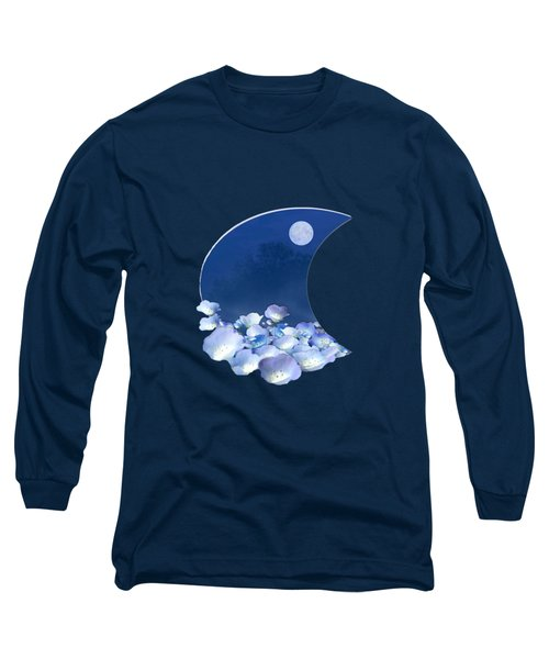 Cornflowers In The Moonlight Long Sleeve T-Shirt