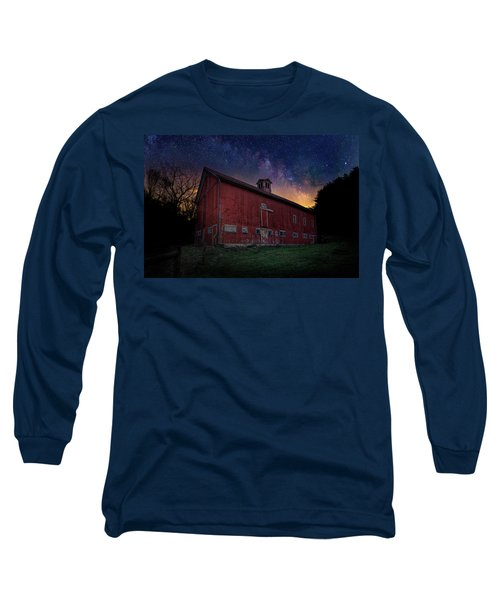 Long Sleeve T-Shirt featuring the photograph Cosmic Barn by Bill Wakeley