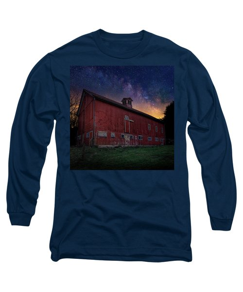 Long Sleeve T-Shirt featuring the photograph Cosmic Barn Square by Bill Wakeley