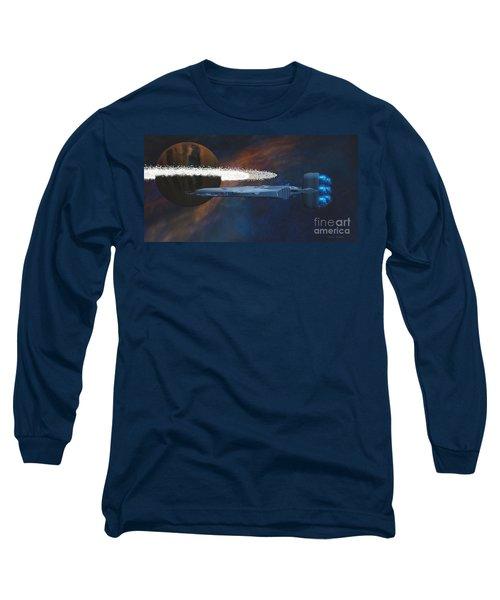 Cosmic Spaceship Long Sleeve T-Shirt