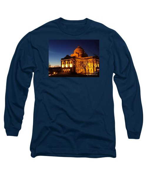 Courthouse At Night Long Sleeve T-Shirt by Christina Verdgeline