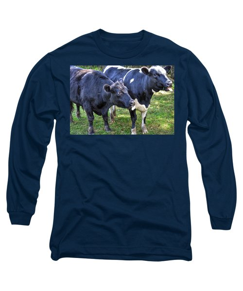 Cows Sticking Out Tongues Long Sleeve T-Shirt