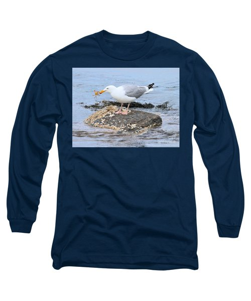 Crab Legs Long Sleeve T-Shirt by Debbie Stahre