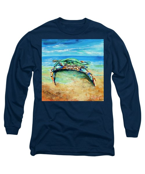 Crabby At The Beach Long Sleeve T-Shirt