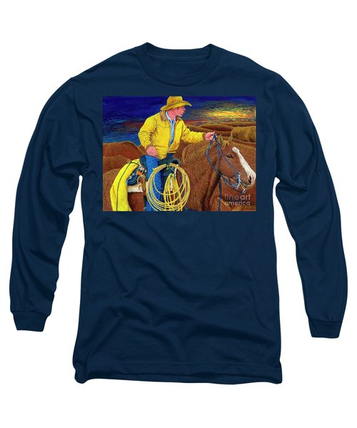 Cracker Cowboy Sunrise Long Sleeve T-Shirt