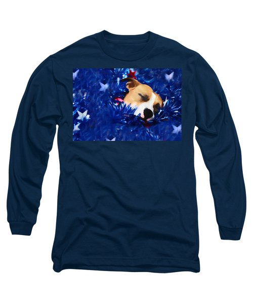 Long Sleeve T-Shirt featuring the photograph Cradled By A Blanket Of Stars And Stripes by Shelley Neff