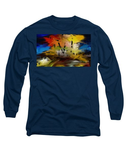 Long Sleeve T-Shirt featuring the painting Crazy Nature by Rushan Ruzaick