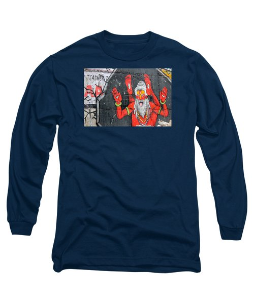 Crazy Yogi, Rishikesh Long Sleeve T-Shirt by Jennifer Mazzucco