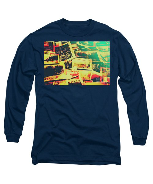 Creative Retro Film Photography Background Long Sleeve T-Shirt